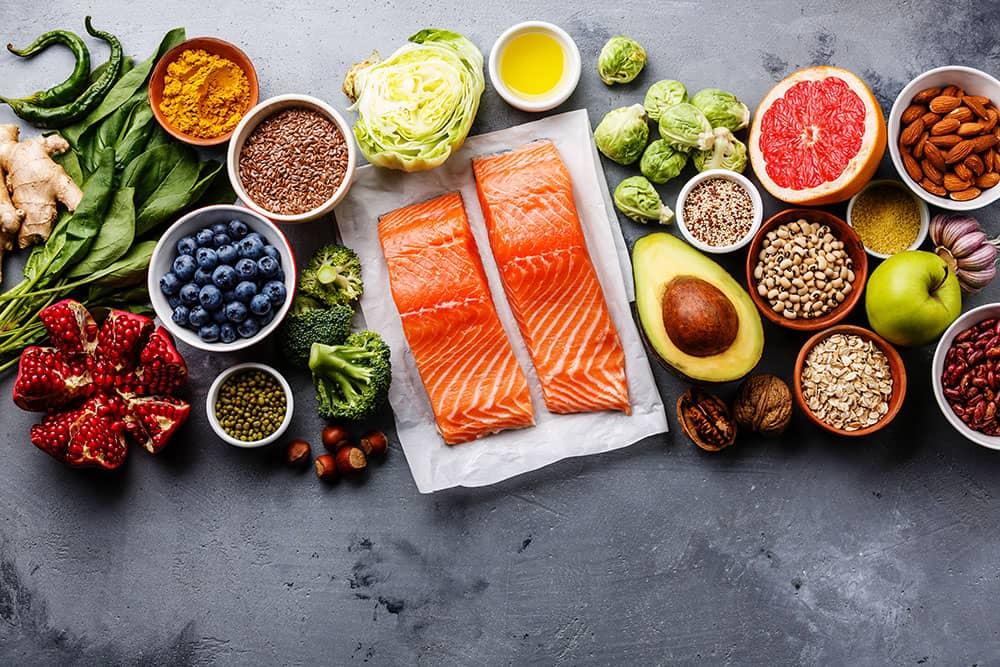 Ein Bild von verschiedenen Lebensmitteln