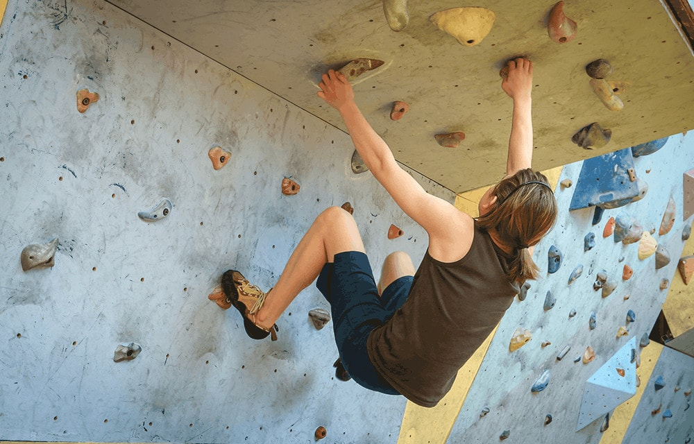 sport bouldern selbstvertrauen