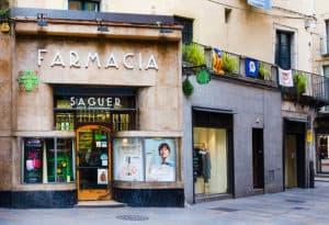 Eine Apotheke in Katalonien