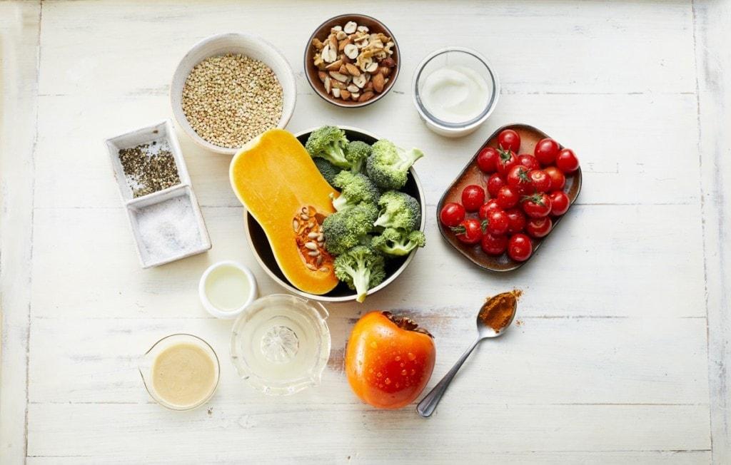 Zutaten für Herbstliche Veggie-Bowl mit Buchweizen