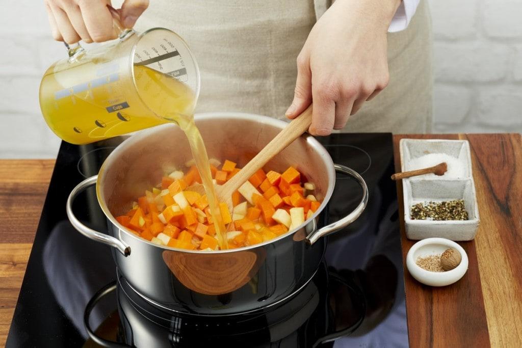 Zubereitung Süßkartoffelsuppe