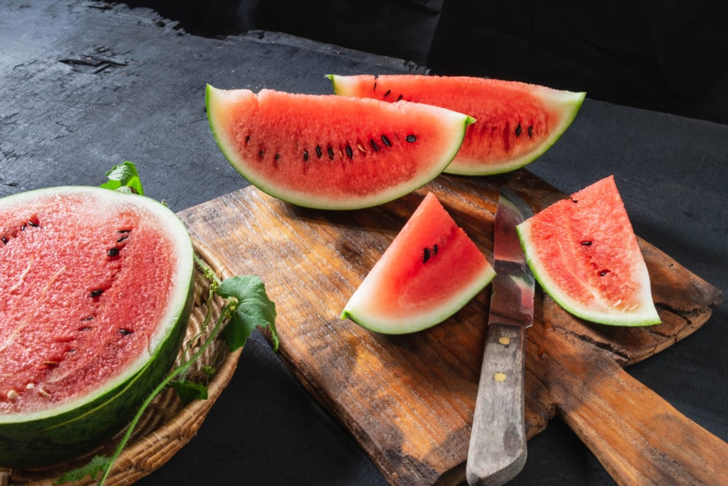 geschnittene Wassermelone